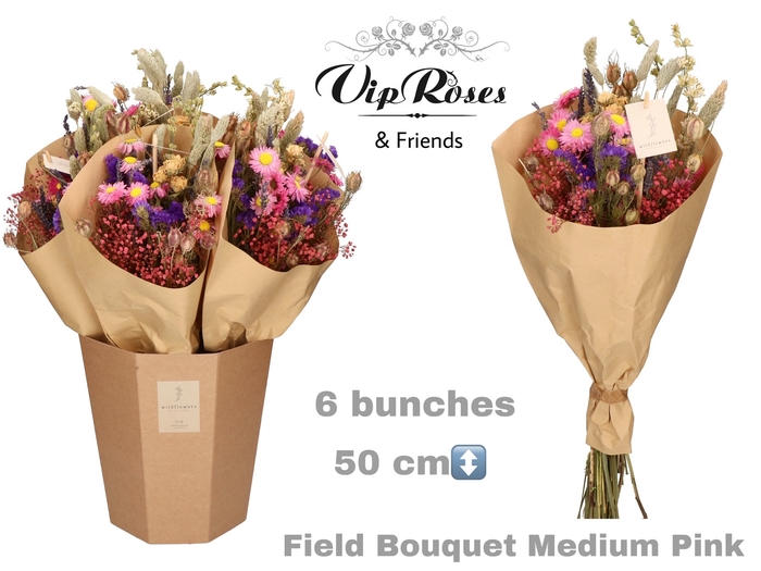 <h4>Vip Dried Bouquet Medium Pink</h4>