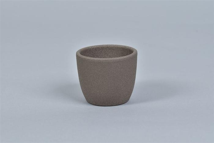 <h4>Keramiek Pot Bruin 7cm</h4>