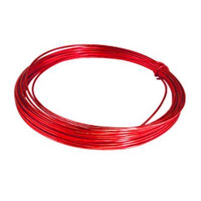 <h4>Gelakt aluminiumdraad - rood  100 gram (12 meter)</h4>