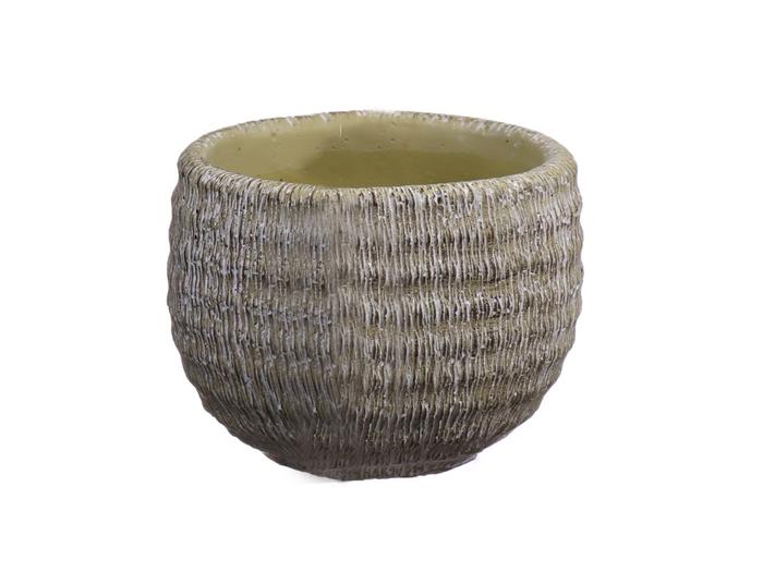 <h4>DF550112437 - Pot Bory d12.5/13.4xh10.5 apple green</h4>