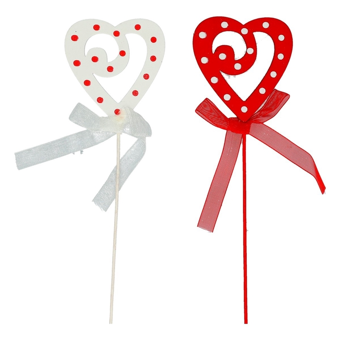 <h4>Valentijn 20cm Hart hout deco 5cm</h4>