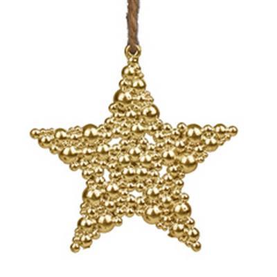<h4>Hanger kerstster bubbles 9,5x9,5cm goud</h4>