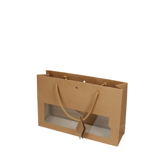 <h4>Tassen Gift bag venster 28/8*18cm</h4>