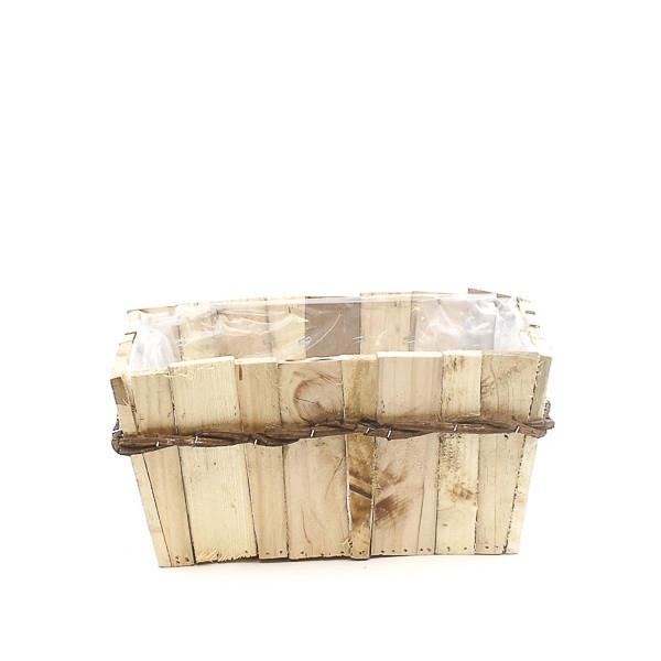 <h4>Hout Planter Bamboo rh 30*22*15cm</h4>