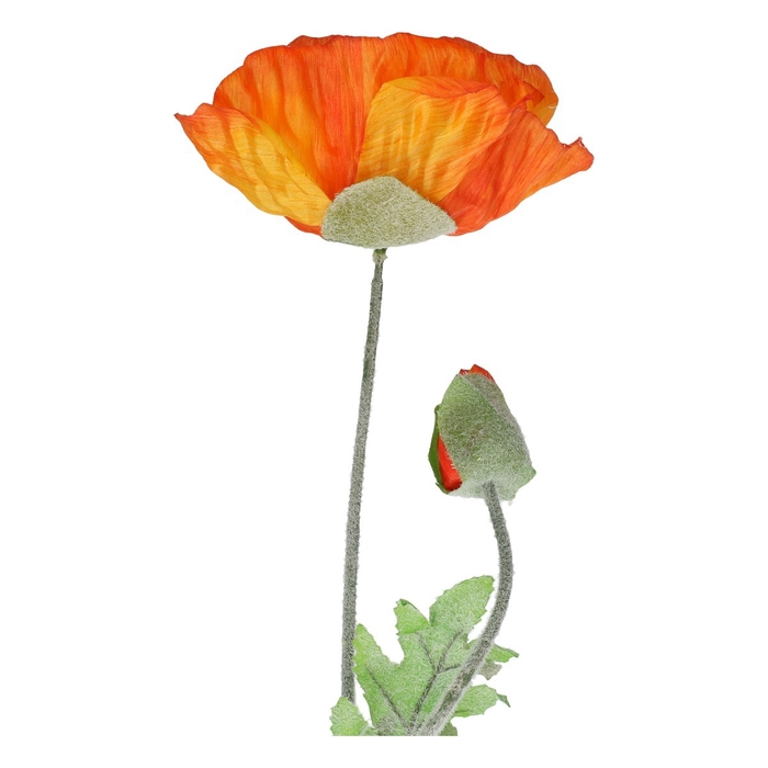 <h4>Silk Poppy spray 70cm</h4>
