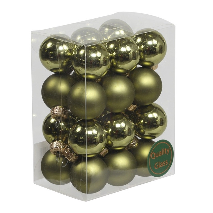 <h4>Christmas bauble Ball/cap 25mm combi x24</h4>