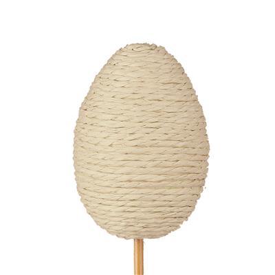 <h4>Bijsteker Eggrope 6x4,5cm+12cm stok naturel</h4>