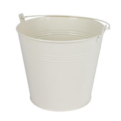 <h4>Bucket Sevilla zinc Ø17,8xH15,8cm-ES17 cream gloss</h4>