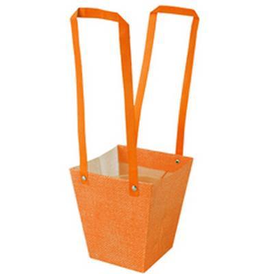 <h4>Bag Fabric PP 13x9,5xH15cm orange</h4>