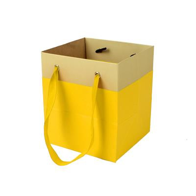 <h4>Bag Facile carton 9,5x9xH11cm yellow</h4>