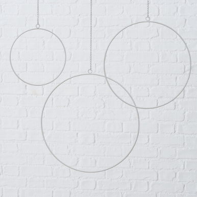 <h4>Decorative pendant Rumba, H 0,4 cm, D 30 cm, Iron powder coated, White Quantity in set: 1; iron powder coated white</h4>