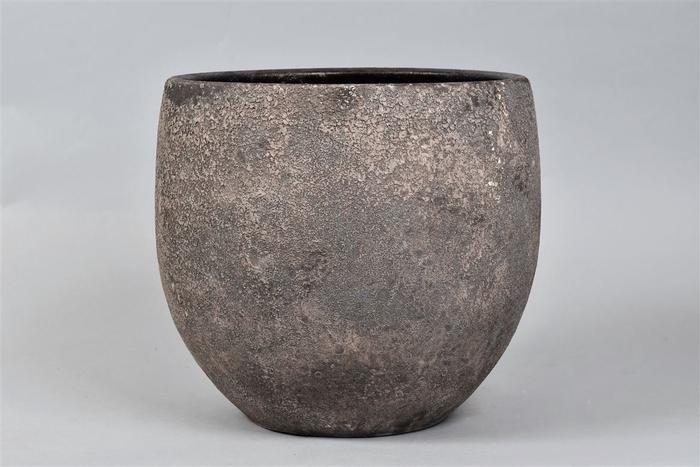<h4>Bali Indonesian Grey Pot 30x27cm</h4>
