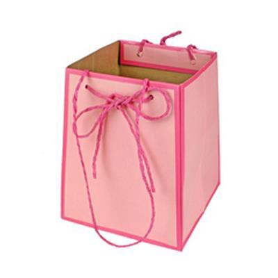 <h4>Bag Easy carton 12/12x15/15xH18cm pink</h4>