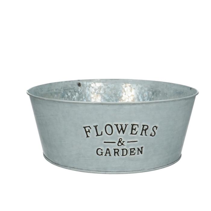 <h4>Zinc Flower&garden bowl d25*10cm</h4>