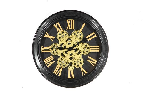 <h4>Clock Gear Ø34cm Black 81822</h4>