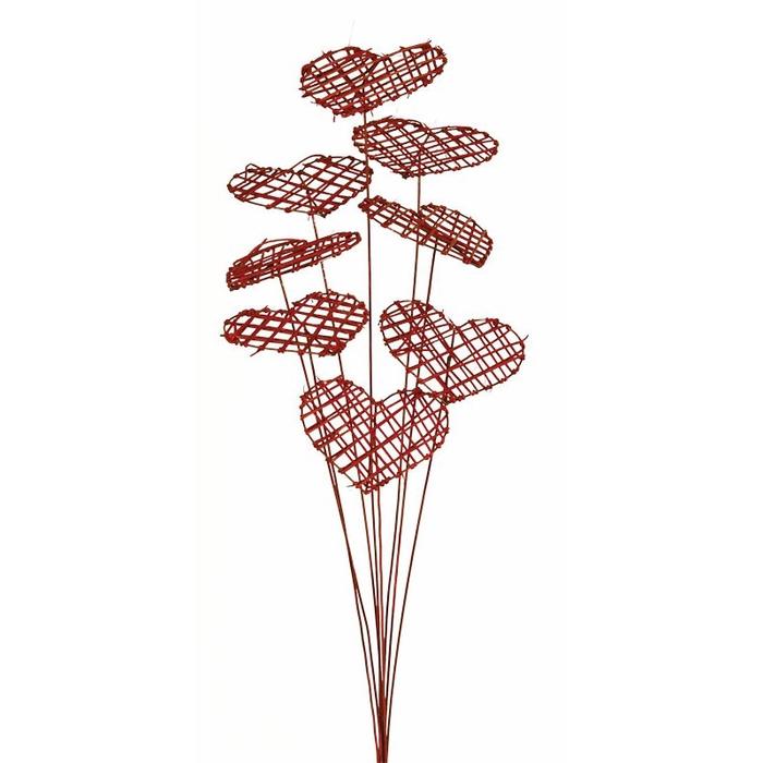 <h4>Rattan corazon framed rojo</h4>