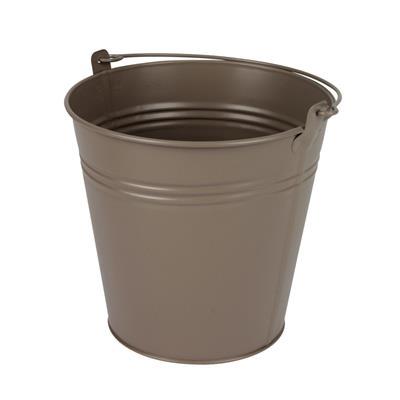 <h4>Bucket Sevilla zinc Ø15,5xH14,8cm ES14/15 taupe</h4>