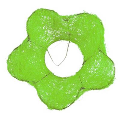<h4>Support à bouquet sisal fleur Ø15cm vert clair</h4>