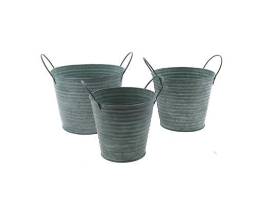 <h4>Planter Mtl S/3 18x14cm Green</h4>