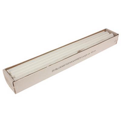 <h4>Bougies fines 14x490mm blanc - carton de 20pcs</h4>