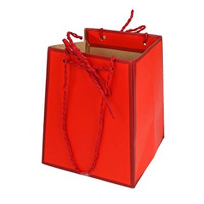 <h4>Bag Easy carton 12/12x15/15xH18cm red</h4>