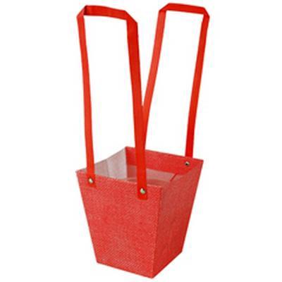 <h4>Bag Fabric PP 13x9,5xH15cm red</h4>