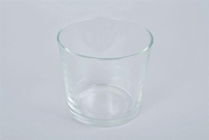 <h4>Glas Pot Konisch Zwaar 15x14cm</h4>