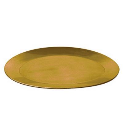 <h4>Asiette plate ovale en plastique 39x29x2,5cm or</h4>