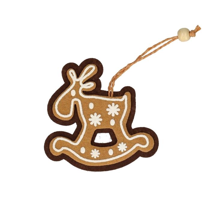 <h4>Kerst Hanger pepper paard 8.5cm x4</h4>
