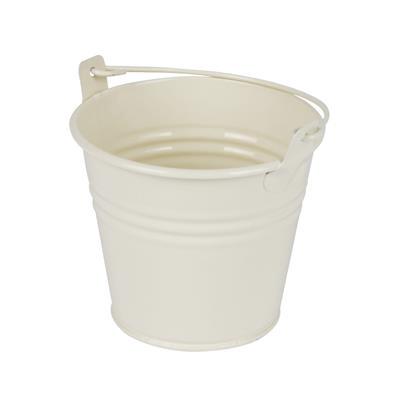 <h4>Bucket Sevilla zinc Ø9.6xH8cm - ES8.5 cream gloss</h4>