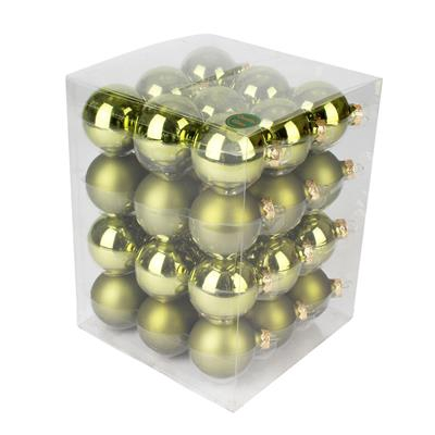 <h4>Boules de nöel en tube 57mm ass Olive 36pcs</h4>