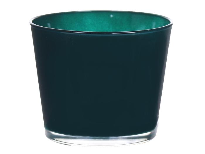 <h4>DF883565000 - Pot Nashville d13.3xh12.5 grey petrol</h4>