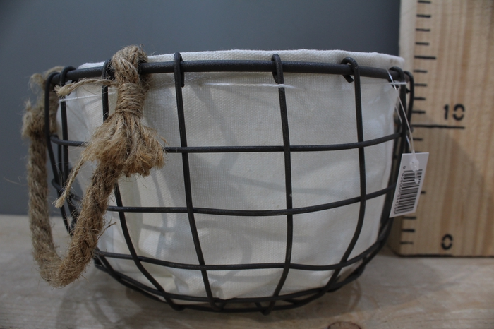 <h4>IRON BASKET WITH JUTE H12 D21 751520006</h4>