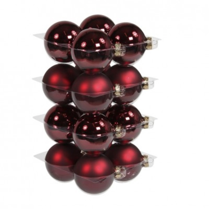 <h4>Christmas bauble Ball 80mm combi x16</h4>