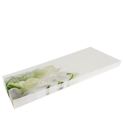 <h4>Rouwkaarten MA  groot - blanco roos pak 20st</h4>
