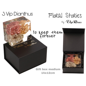 VIP FOSSIL EPOXY DIANTHUS 3 FLOWERS