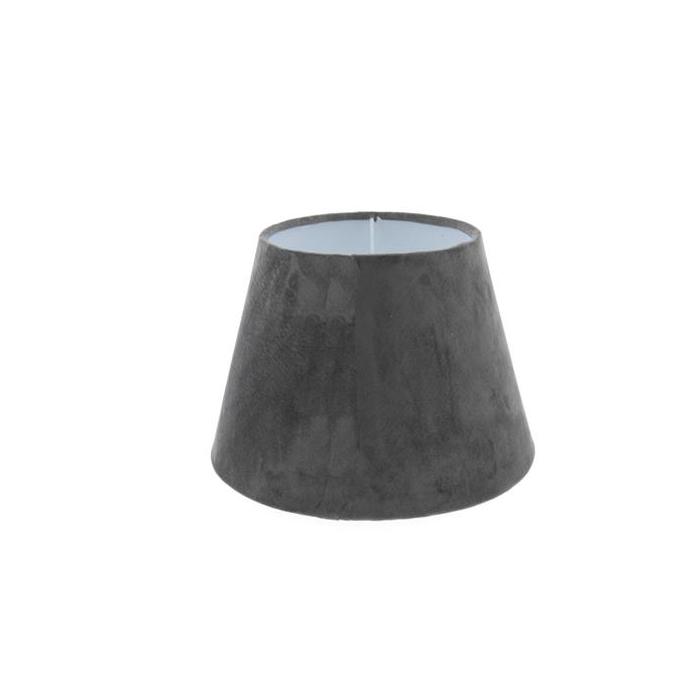 <h4>Lamp Shade Ø25xh16cm Grey Vel.</h4>