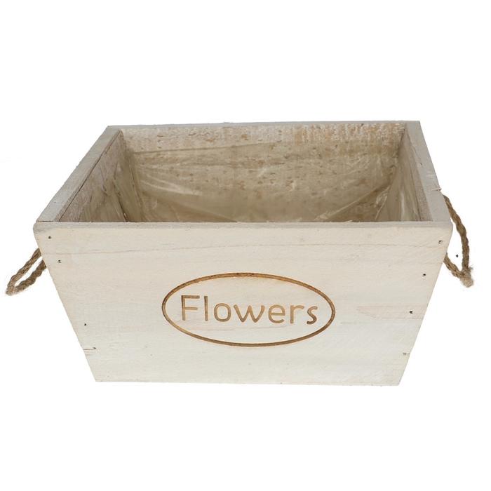 <h4>Hout Flowers bak vierkant d20*10cm</h4>