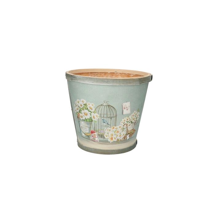 <h4>Hout Daisy pot d17*15cm</h4>