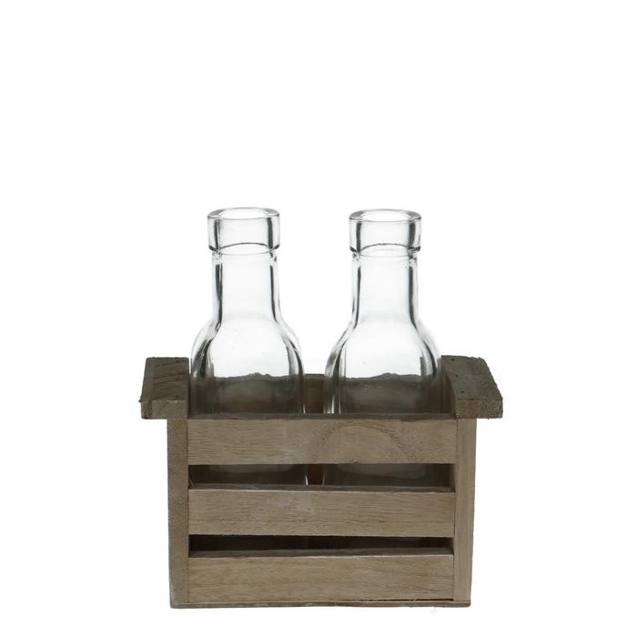 <h4>Glass Box+2bottle d3/5*15cm</h4>