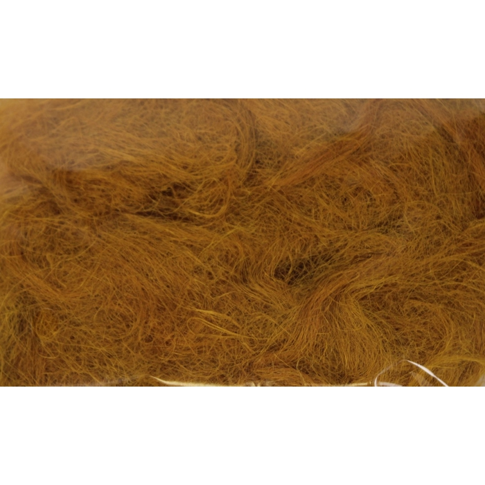 <h4>Fuzzy fibre 100 gram in poly mustard</h4>