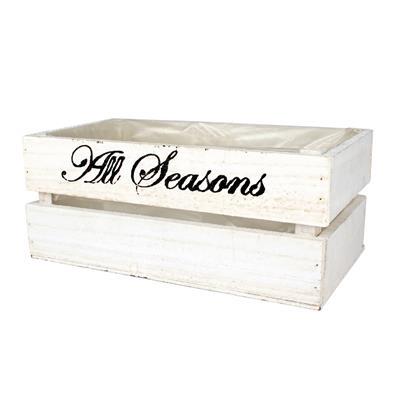 <h4>Caisse en bois All seasons 30x18x12cm blanc</h4>