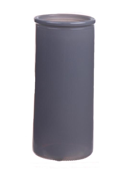 <h4>DF663830600 - Cylinder Fleurs d5.5xh12.3 grey</h4>