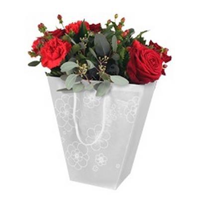 <h4>Bag Frost flower PP 19/12x11xH18cm</h4>