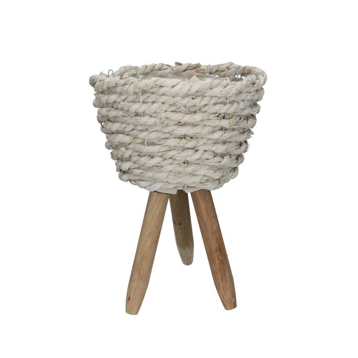 <h4>Manden Pot/voet touw d15*22cm</h4>