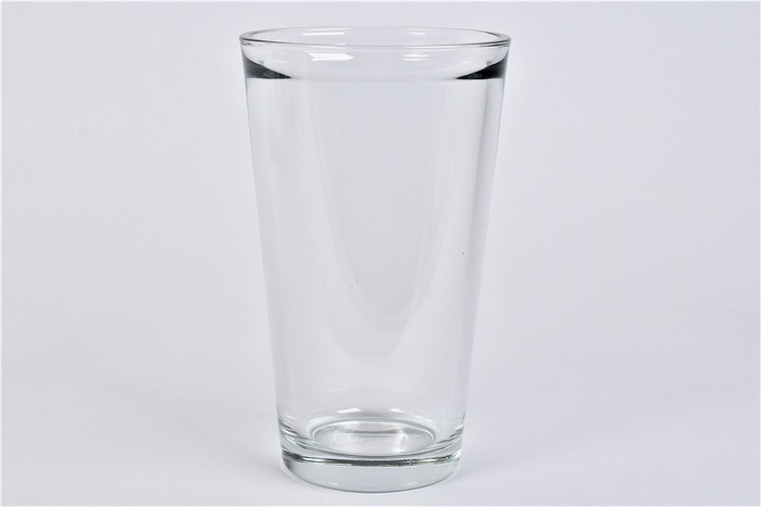 <h4>Glas Vaas Konisch Zwaar 13x22cm</h4>