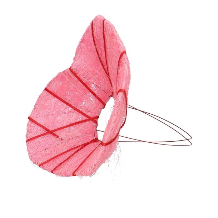 <h4>Bouquetholder Heart sisal deco d25cm</h4>