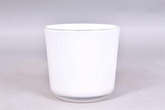 <h4>Glaspot Wit 13x14cm</h4>