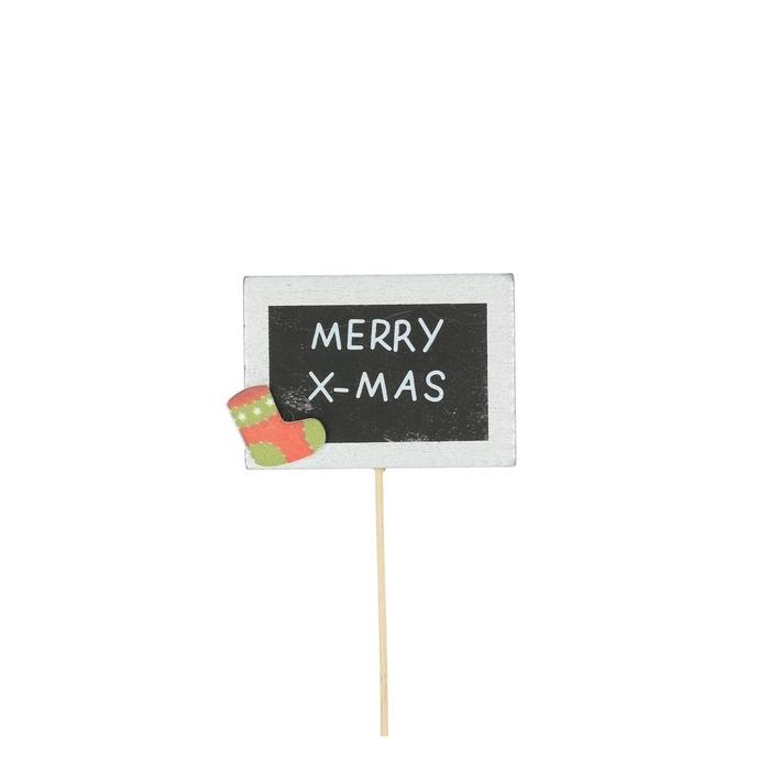 <h4>Christmas sticks 20cm Merry X-Mas 7.5cm</h4>