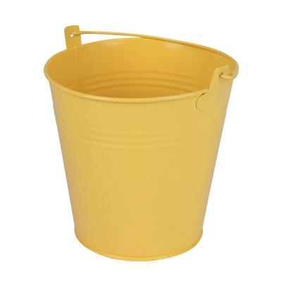 <h4>Bucket Sevilla zinc Ø15,5xH14,8cm -ES14/15 yellow</h4>